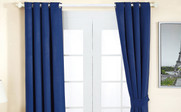 Dark Blue Black Out Curtain 4 Piece Set