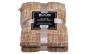Jojoba Yellow Knitted Throw Package