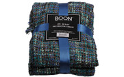 Deep Teal Naga Knitted Throw Package