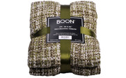 Martini Olive Naga Knitted Throw Package