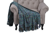 Deep Teal Naga Knitted Throw