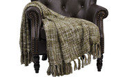 Martini Olive Naga Knitted Throw