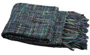 Deep Teal Naga Knitted Throw Pack