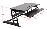 Double Wide Adjustable Height Easy Pull Home Office Desk Open Full