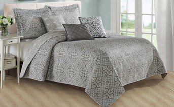 Bellamy Printed Quilted 6 Piece Bed Spread Set