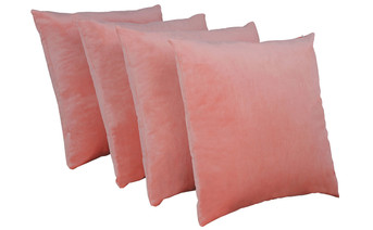 Serenta Supersoft Pillow Shell 4 Piece Set Peach Echo
