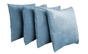 Serenta Supersoft Pillow Shell 4 Piece Set Silver Blue