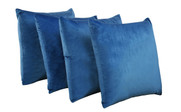 Serenta Supersoft Pillow Shell 4 Piece Set Snorkel Blue