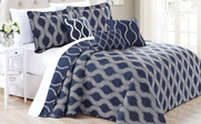 Charleston Printed Quilted 6 Piece Bed Spread Set