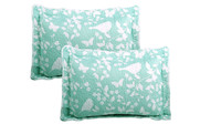 Teal / Turquoise Birdsong 6 Piece Bed Spread Set Shams