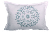 Marina Medallion Printed Quilted Throw Pillow