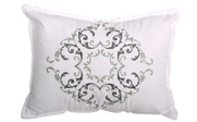 Ravello Scroll Printed Quilted 6 Piece Bed Spread Set Throw Pillow 1
