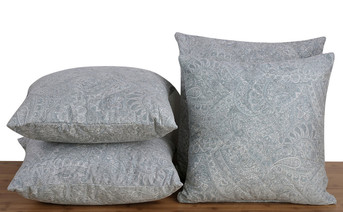 Paisley Suede 4 Piece Pillow Set