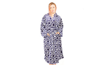 Peacoat Ivan Flannel Fleece Bath Robe