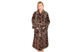 Big Giraffe Printed Microfiber Flannel Fleece Bath Robe