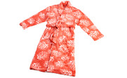 Ardre Coral Flannel Fleece Bath Robe Flat