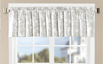 Birdsong 2 Piece Valance Set Gray