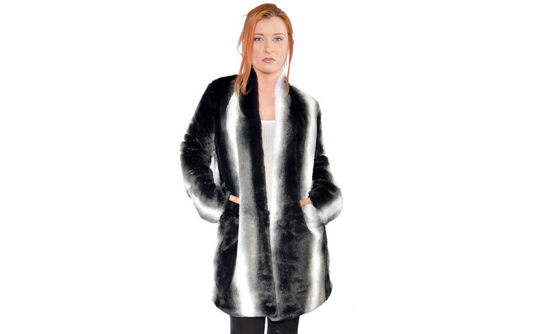 Meerkat Faux Fur Coat