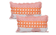 Coral Chevron 9 Piece Bed Spread Set