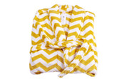 Chevron Printed Flannel Fleece Bath Robe