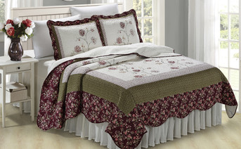 Dorset 3 Piece Bed Spread Coverlet Set