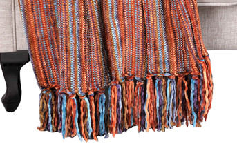 Multi Color Crystal Chenille Throw Blanket