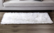 Shaggy Faux Fur Rug - Pure White