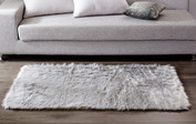 Shaggy Faux Fur Rug - Quiet Gray