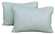 2 Piece Brockton Quilted Sham Set - Light Seamist
