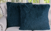 2 Piece Shaggy Euro Pillow Shell Set