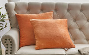 "Tanga Jacquard Chenille Throw Pillow Shells 20"" x 20"" - Burnt Orange"