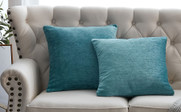 "Tanga Jacquard Chenille Throw Pillow Shells 20"" x 20"" - Turquoise"