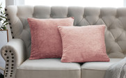 "Tanga Jacquard Chenille Throw Pillow Shells 20"" x 20"" - Rose Quartz"