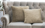 "Tanga Jacquard Chenille Throw Pillow Shells 20"" x 20"" - Grey"