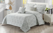 Visionary 5 Piece Quilt Bedspread Sets Reverse Side