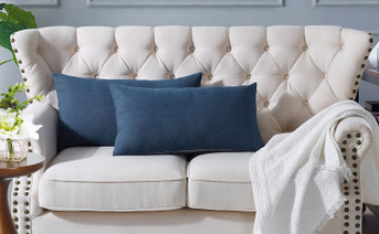 Denim Throw Pillow Shells