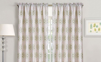 Bloom Medallion 2 Piece Curtain Set