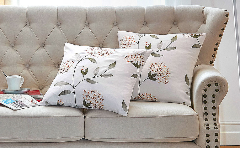 Sunflower Embroidery Canvas Pillow Shells Sets