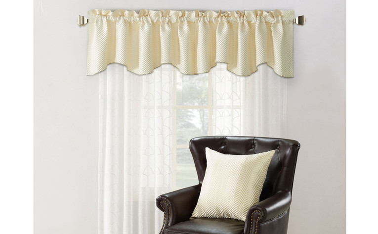 Chevron Jacquard Valance and Pillow Shell Sets