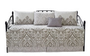 Visionary Damask Daybed Set - Gray