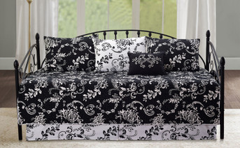 Black La Boheme 6 Piece Daybed Set