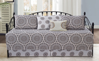 Tribal Medallion Scroll 6 Piece Daybed Set