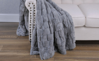 Honeycomb Faux Fur Throw