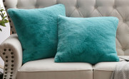Solid Heavy Faux Fur Pillow Shells