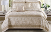 Emma 5 Piece Quilted Coverlet Bedspread Set