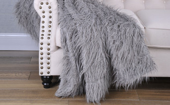 Mongolian Faux Fur 2 Piece Pillow Shell Sets