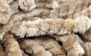 Rope Braided Flannel Fleece Throw Up Close