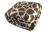 Giraffe Animal Safari Printed Flannel Fleece Blanket Detail Up Close