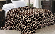 Giraffe Animal Safari Printed Flannel Fleece Blanket