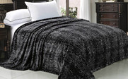 Black Grey Snake Skin Animal Safari Printed Flannel Fleece Blanket